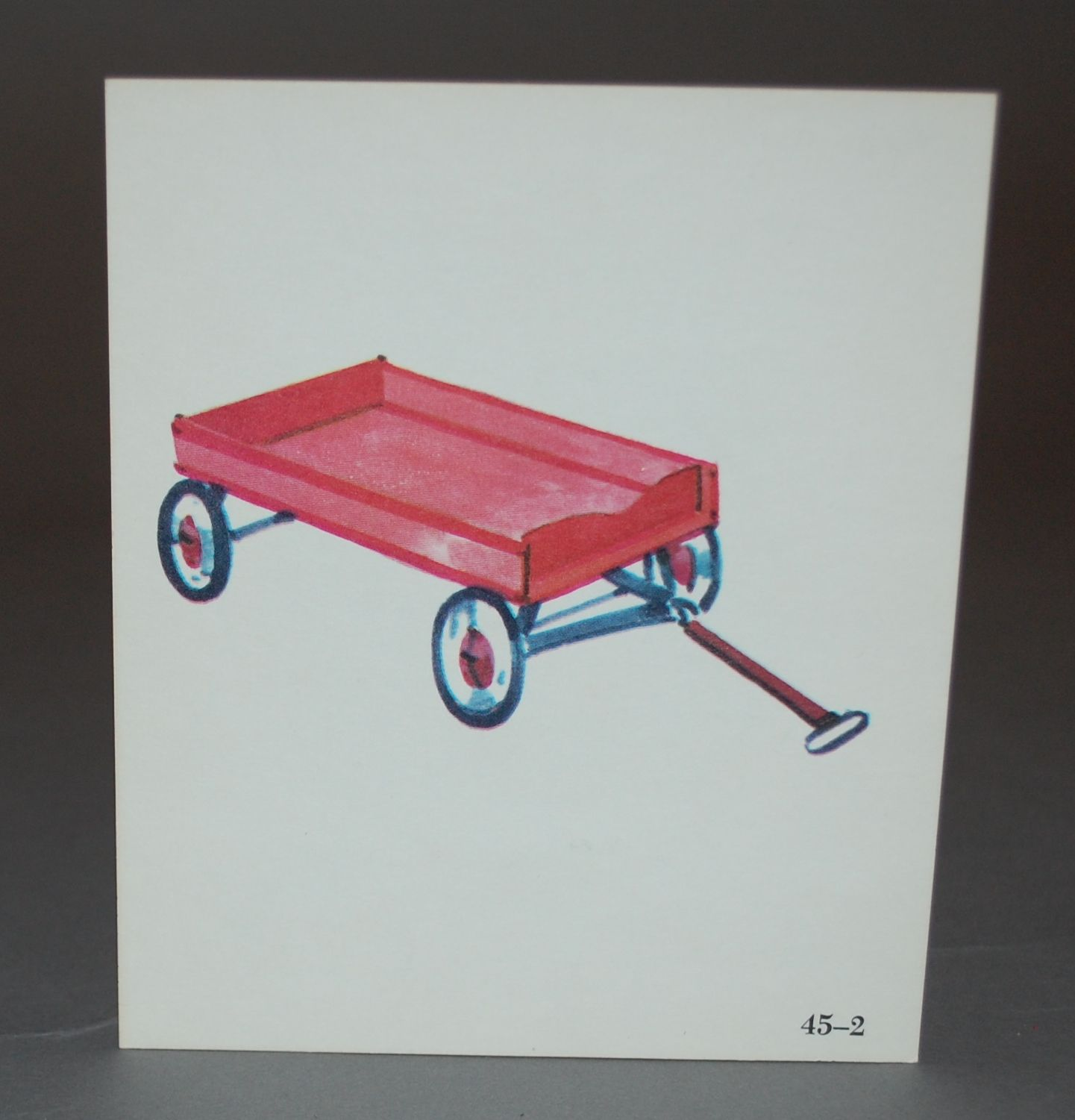 """Vintage """"Little Red Wagon"""" phonetics card, paper good ..."""