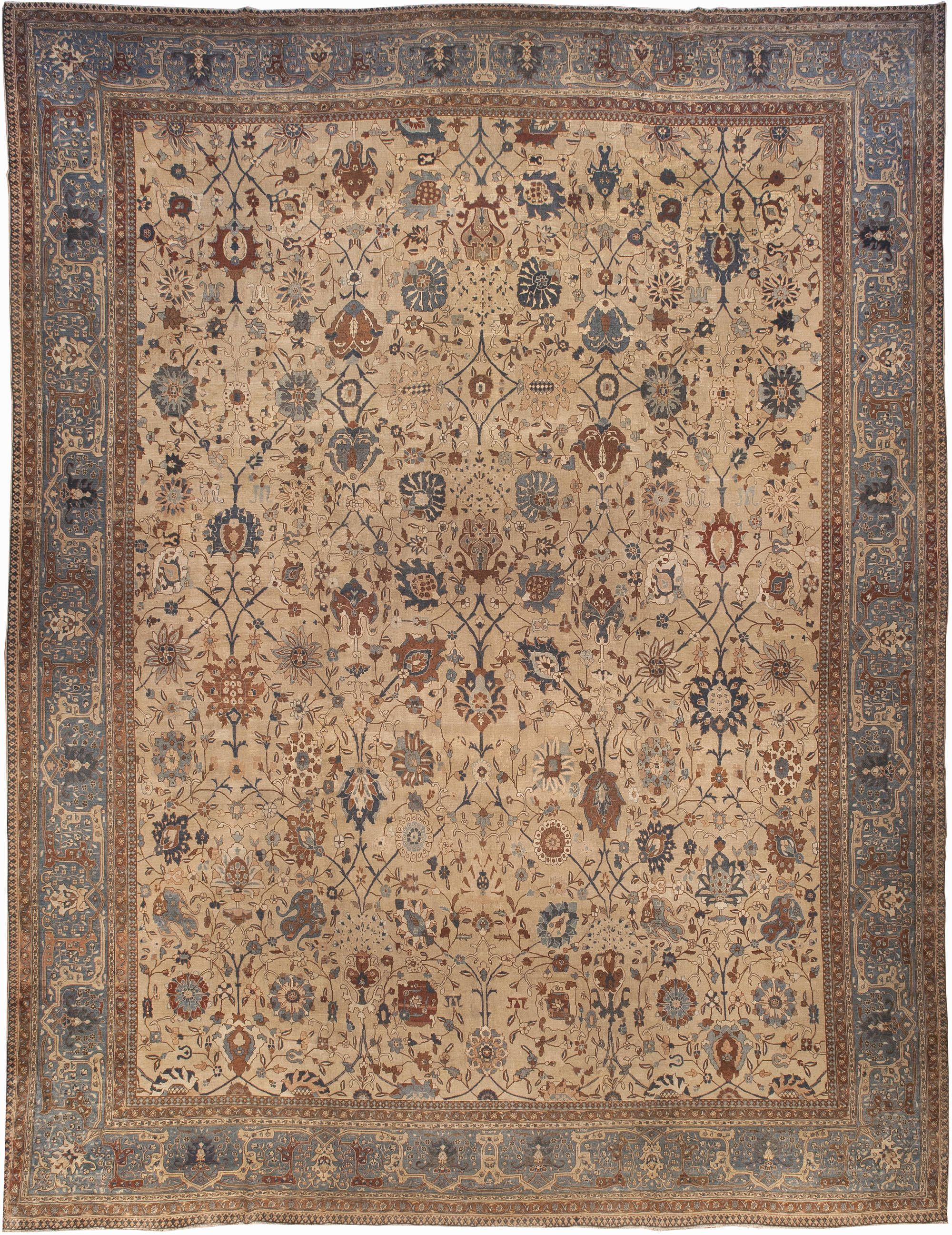 Extra Large Antique Persian Tabriz Rug Bb1400 By Doris Leslie Blau
