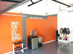 gym design orange blue  google search  workout room home