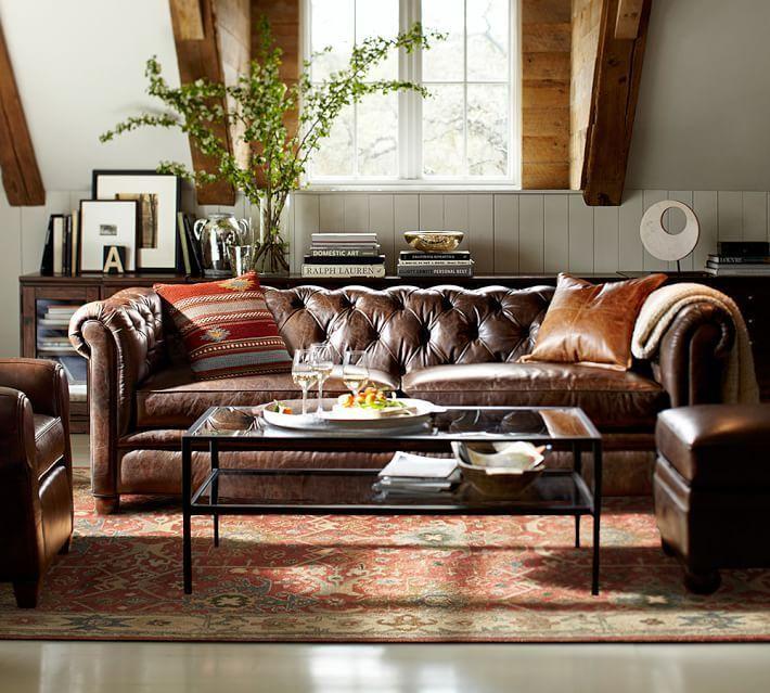 Chesterfield Leder Sofa - Wohnzimmermöbel Chesterfield ...