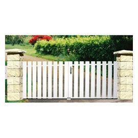 Portail En Pvc Blanc Castorama 319 Pour Le Jardin