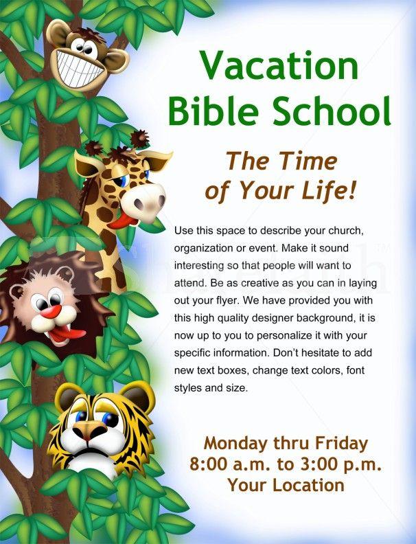 sunday school flyer template
