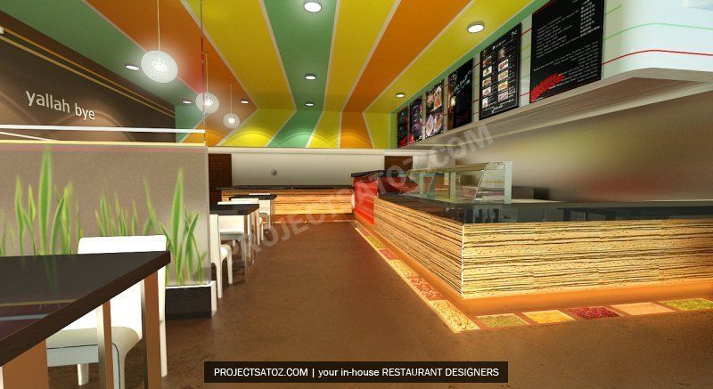modern falafel fast food restaurant design - Fast Food Store Design