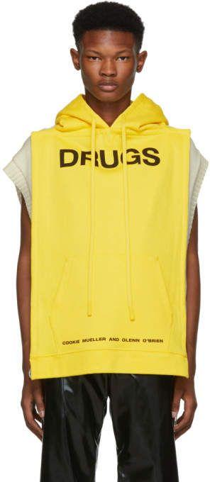 e1fc3db78 Raf Simons Yellow Drugs Panel Hoodie | Products | Hoodies, Raf ...
