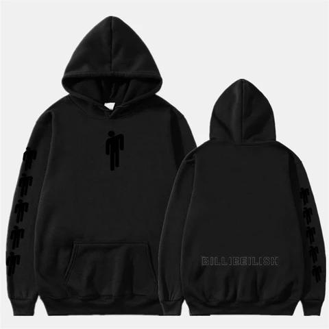 New Billie Eilish Fashion Print Hoodies Hoodies Hoodie Print Girls Black Hoodie