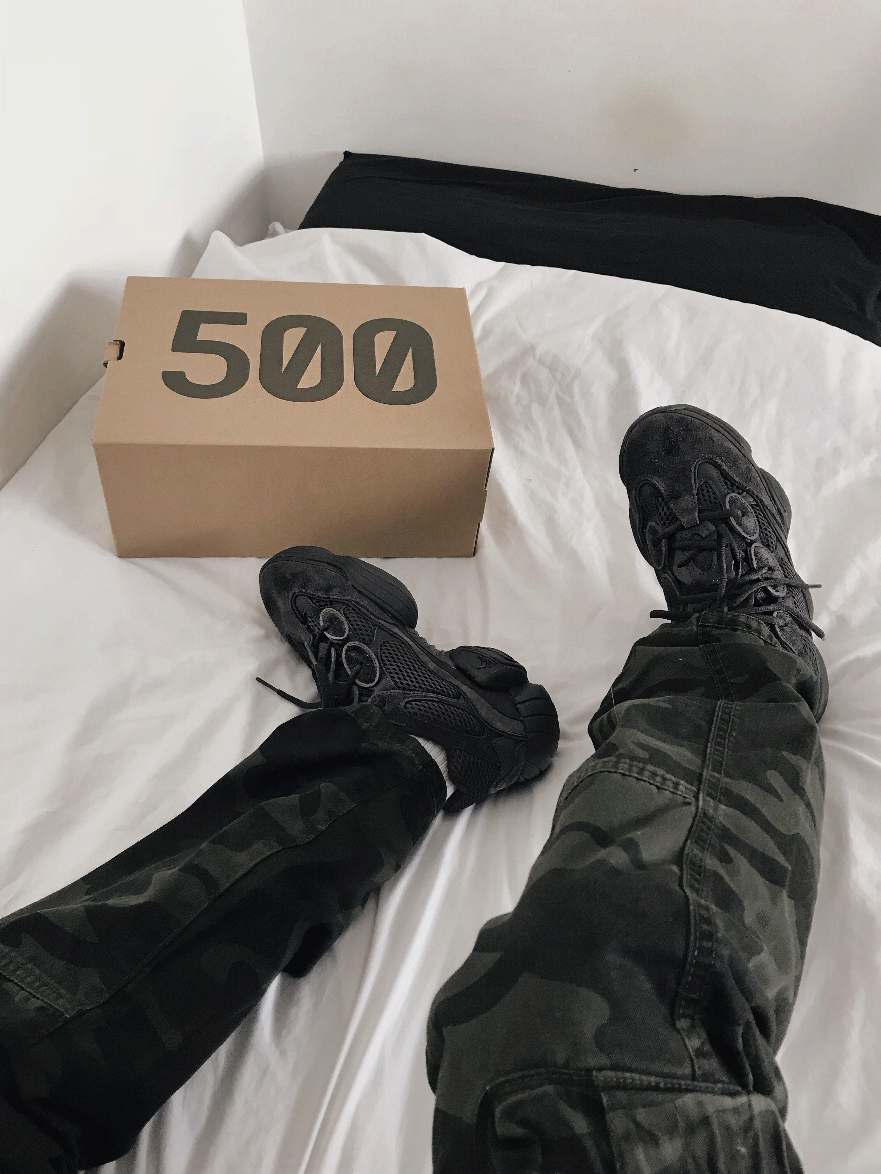 91e088c0b7472 Yeezy 500 Utility Black Hypebeast Sneakers