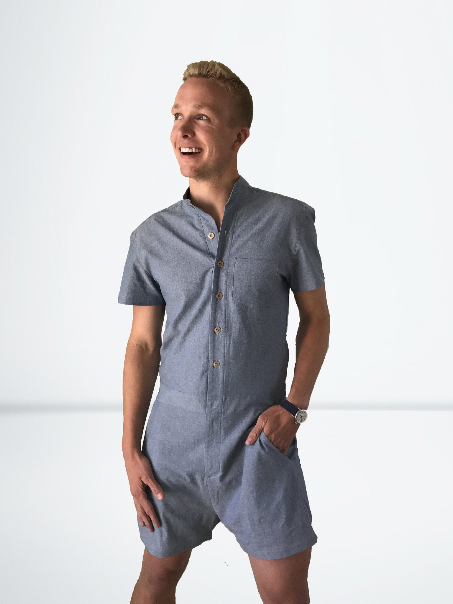 ecb0bd92daf Turn heads and break hearts when you take this RompHim for a spin. Is it a  romper specially designed for men  Sure