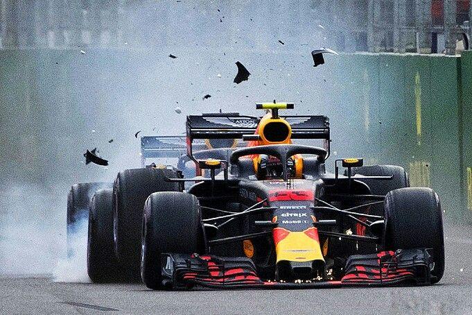 2018 Azerbaijan Gp Red Bull S Max Verstappen And Daniel Ricciardo Violated The First Rule Of Formula 1 Racing At The Street F1ight In Baku Never Ta Animasi 3d
