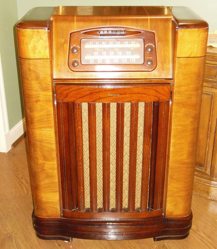Philco 46 1209 Radio Phonograph Record Player Am Console