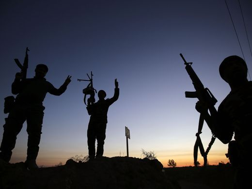 Iraqi Shiite fighters from the Popular Mobilization