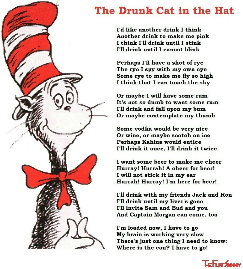 Image result for funny poem by cat in a hat