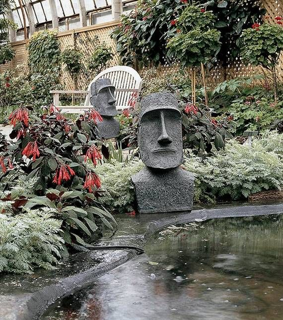 Easter Island Garden Sculptures