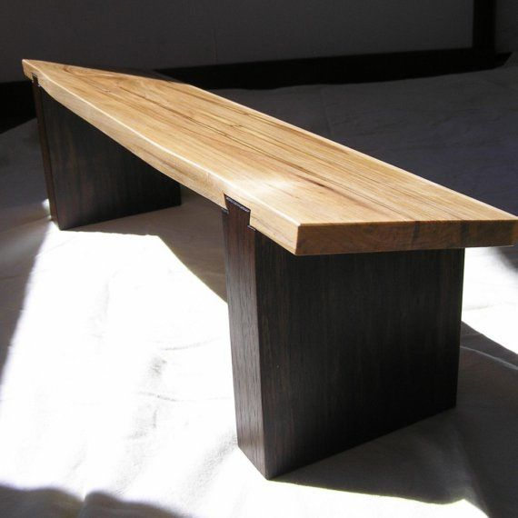 Stunning Meditation Bench. Sliding Dovetail Joinery