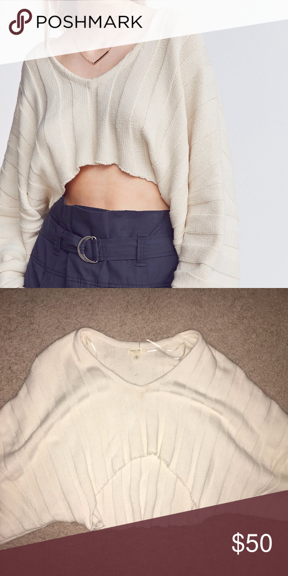 Urban Outfitters Silencenoise Cream Crop Sweater My Posh Picks