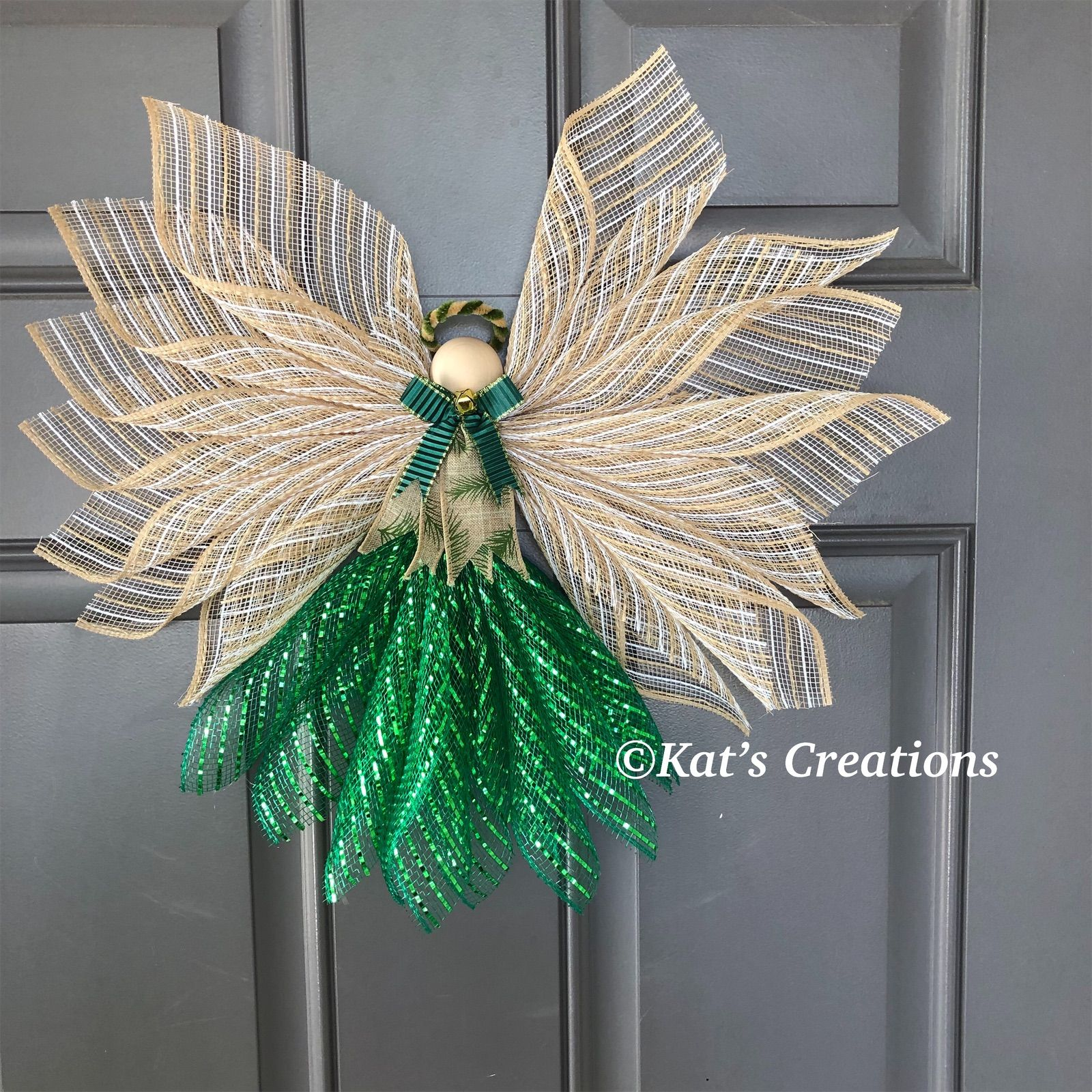 This Farmhouse inspired Angel Tree Topper can be