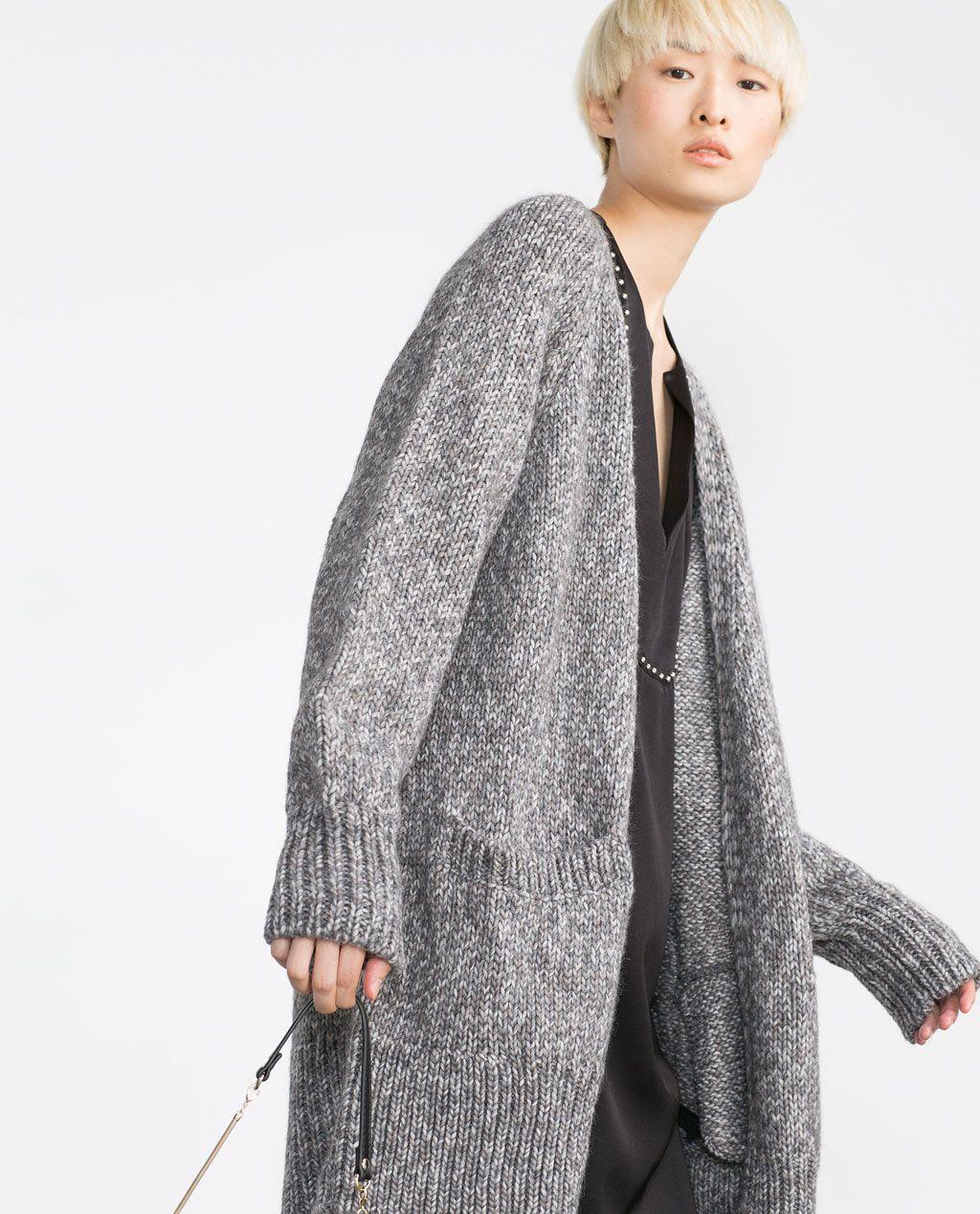 matériau sélectionné chaussure meilleure vente OVERSIZED CARDIGAN-Cardigans-Knitwear-WOMAN | ZARA United ...