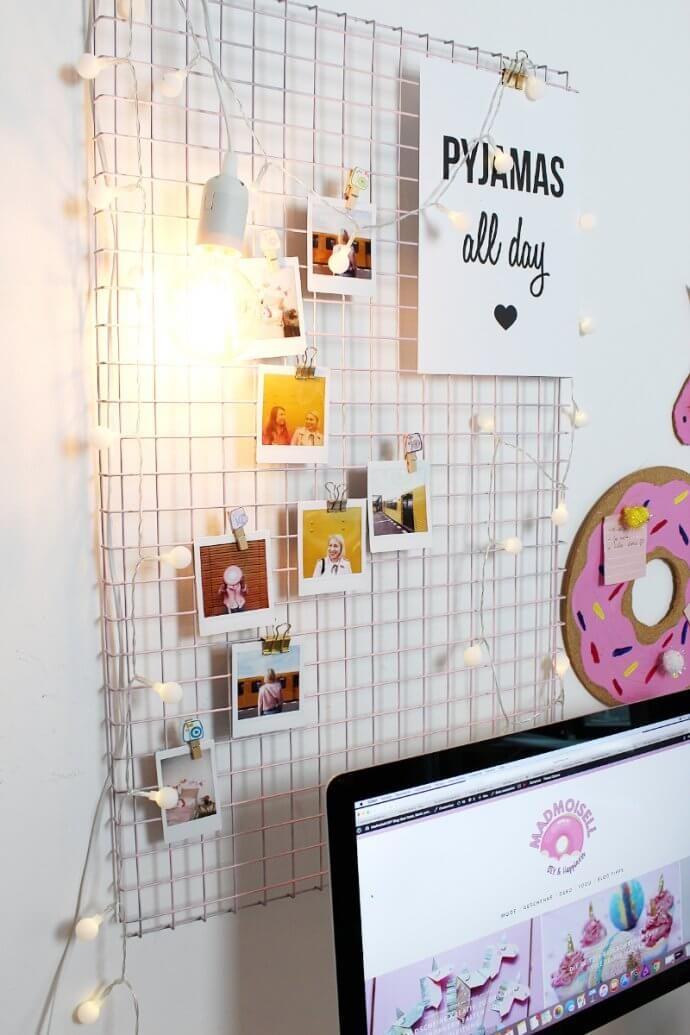 Photo of DIY Fotowand selber machen & Schreibtisch Deko basteln