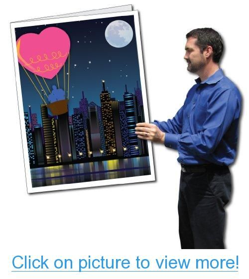 2 X 3 Giant Valentine S Day Card Heart Air Balloon Envelope