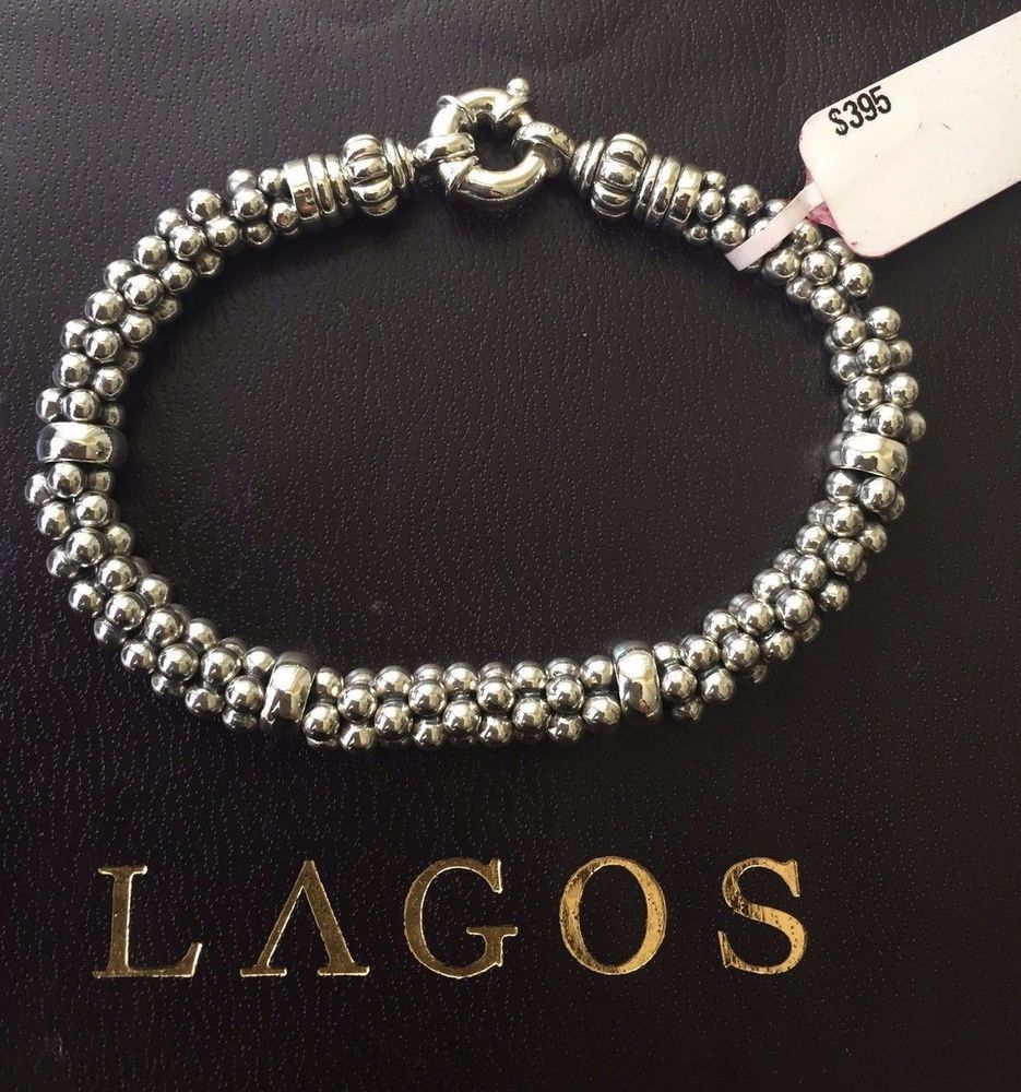 Lagos Caviar Bracelet Beaded Sterling Silver Rope 7mm Nwt 395 00 New Freeshipping Markdown Finejewelry Sterlingsilver Ss