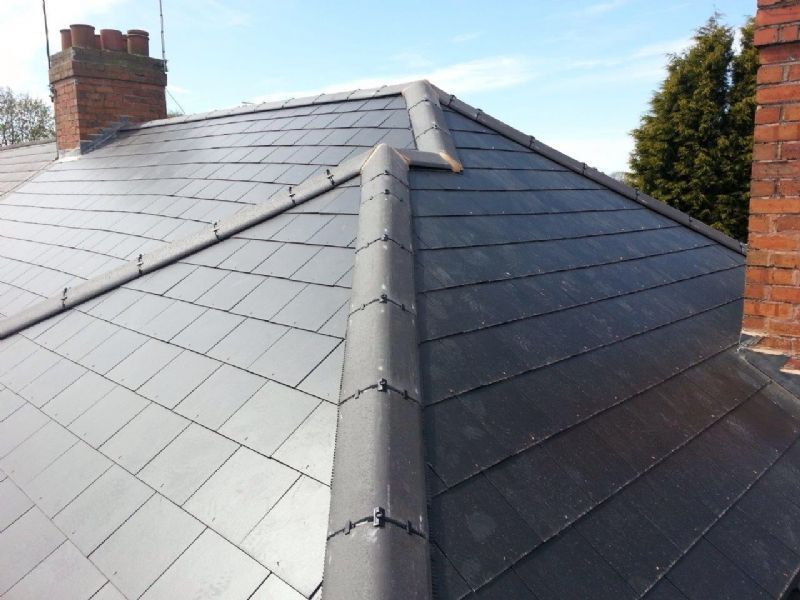 Infinity Roofing Experts Installation In Marley Thrutone Cement Fibre Slates With Dry Fix System Roofing Roofing Options House Exterior