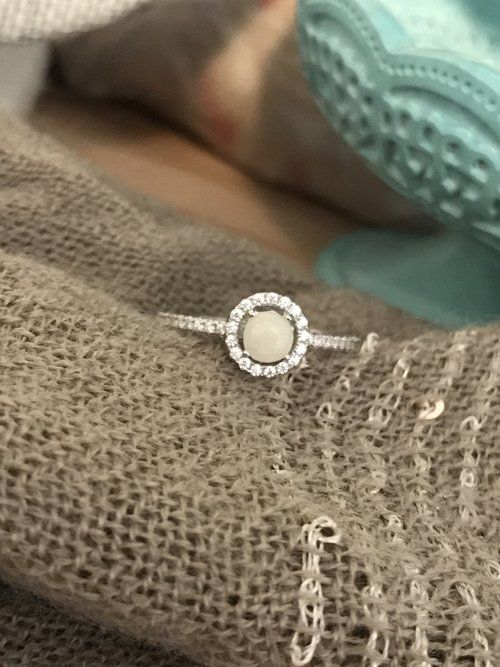 532e75470fa3e Everly Halo Ring 2.0 | Breastmilk jewelry | Halo rings, Halo ...