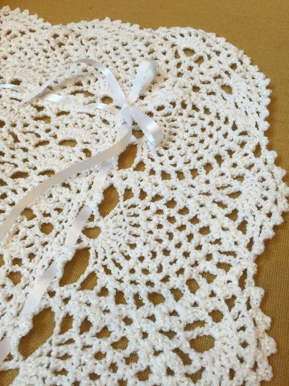 White Lace Crocheted Baby Blanket Afghan - Perfect for the ...