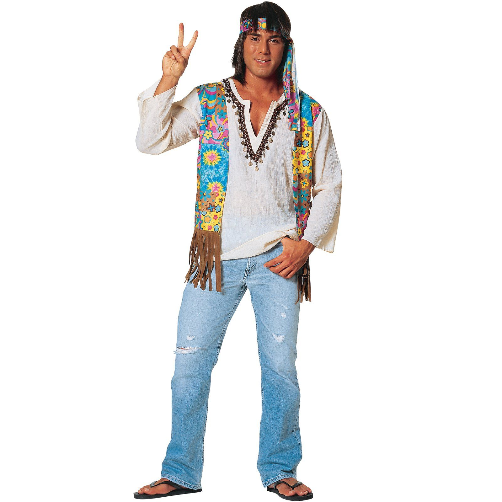 Hippie Male Adult Costume | hippie - Hippie costume, 60s ...