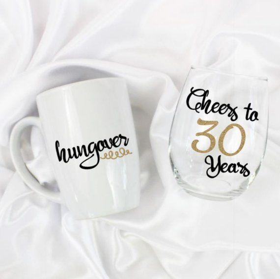 30th Birthday Gift For Sister Or Best Friends Ideas Unique Women Stemless W