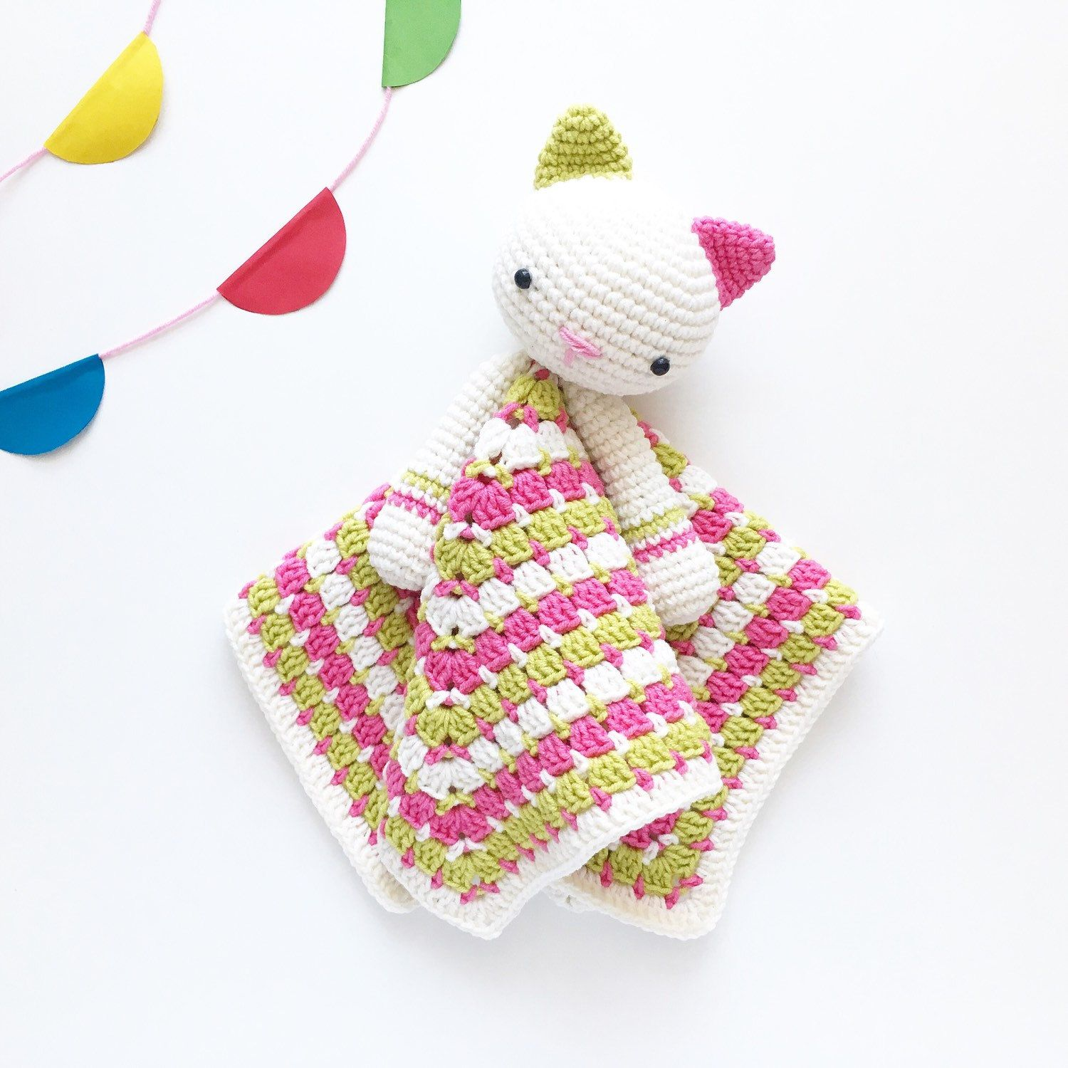 Lovely Bunny Lovey Pattern | Security Blanket | Crochet Lovey | Baby ...