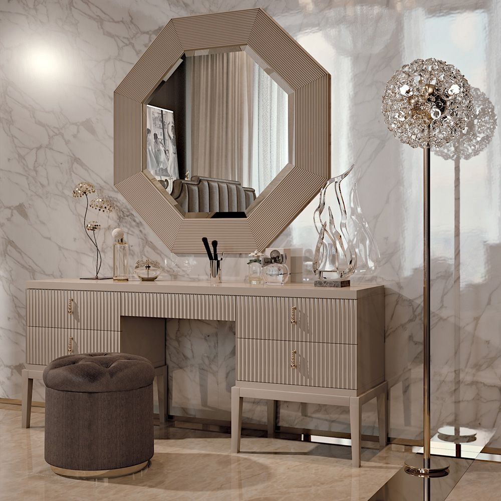 Best High End 5 Drawer Art Deco Inspired Dressing Table 400 x 300