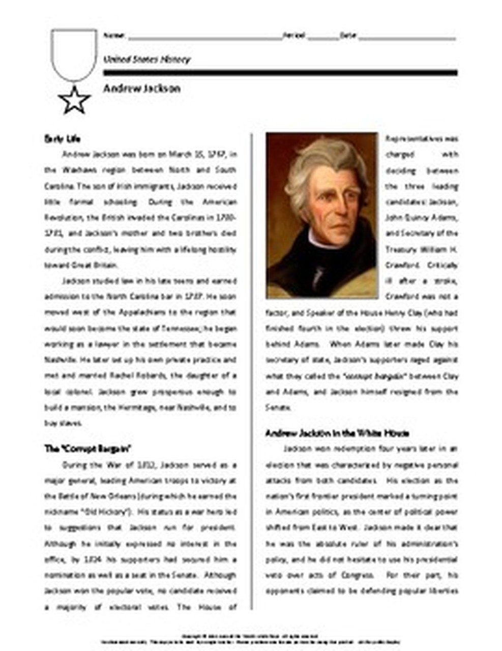 small resolution of Biography: Andrew Jackson   Andrew jackson