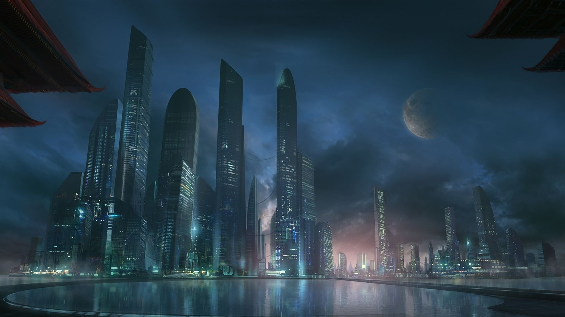 Sci Fi City Cyberpunk CityFuturistic TechnologyFuturistic ArchitectureNeo TokyoFuture CityHd WallpaperWallpapersSkyline
