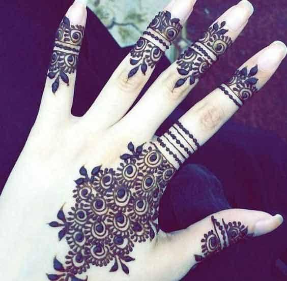 Modern Finger Mehndi Designs 2017 New Style