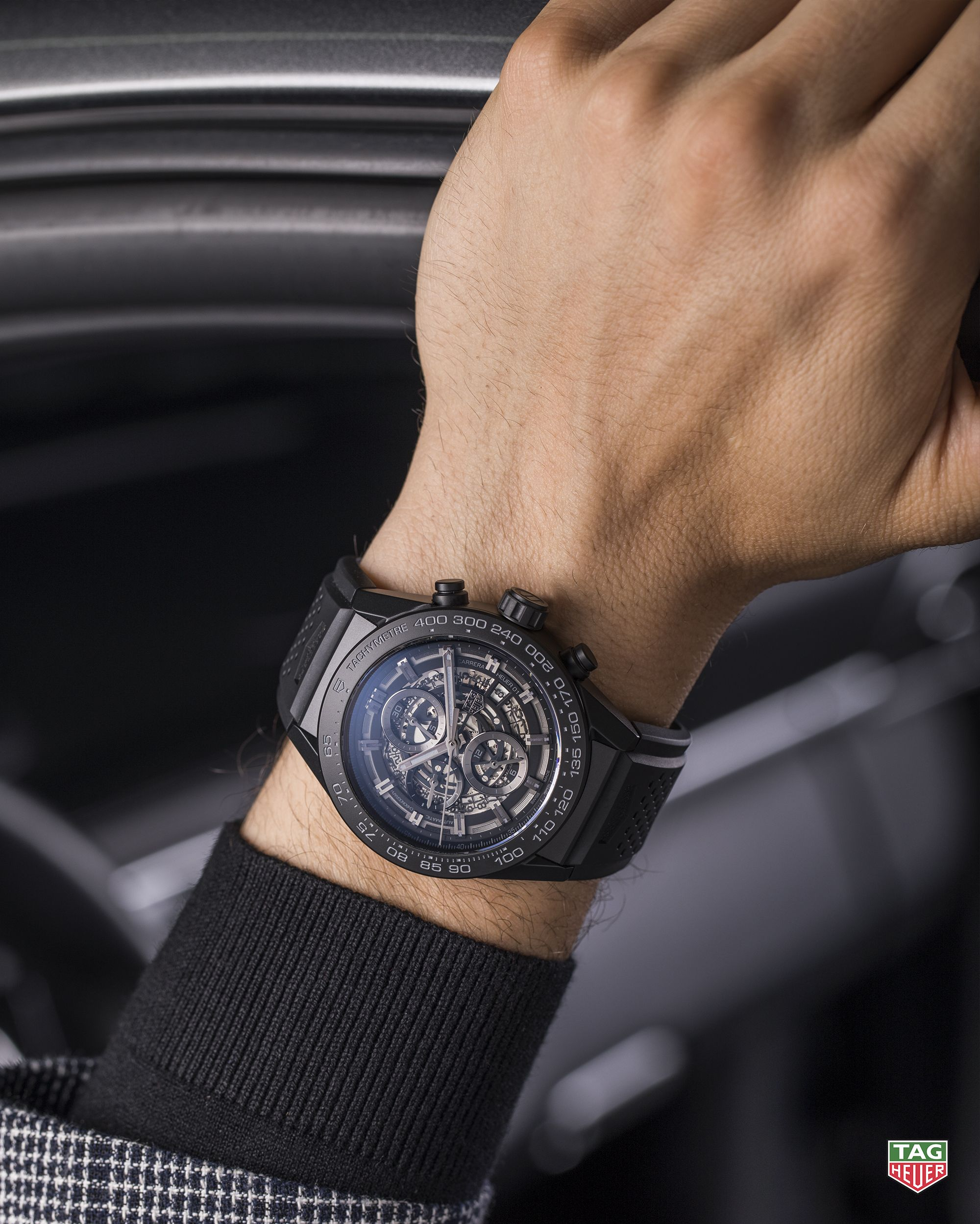 5a3bc0993 Get ready for the ride of your life. The TAG Heuer Carrera Calibre Heuer 01.  #DontCrackUnderPressure #TAGHeuerCarrera #CalibreHeuer01 #Black #Ceramic