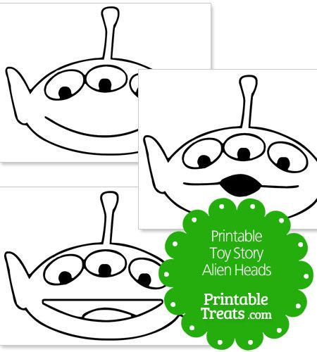 Toy story alien pumpkin stencils