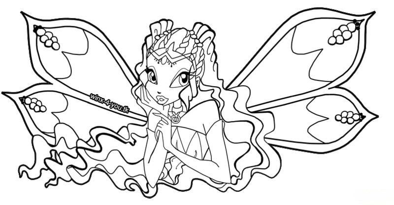 Winx Club Coloring Pages Winx charmix Pinterest Winx club
