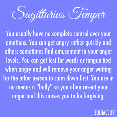 Sagittarius anger traits
