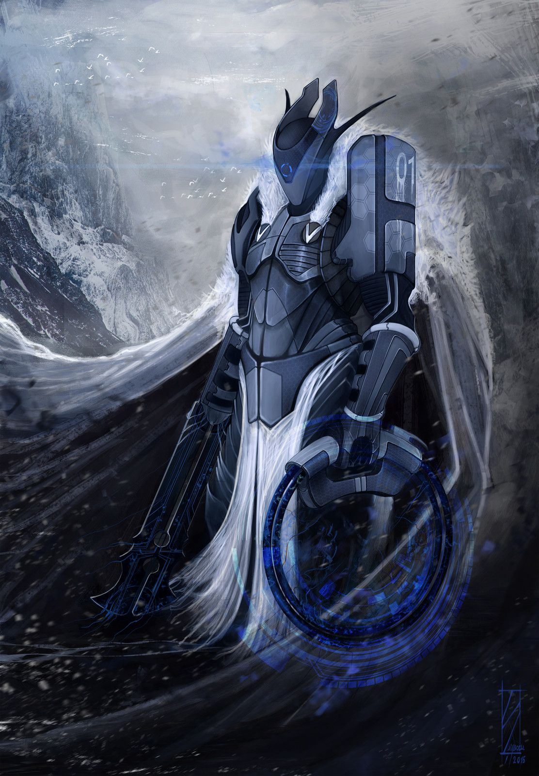 Carbon-Fiber Viking, Serpescu Razvan on ArtStation at https://www.artstation.com/artwork/mO9qv