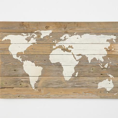reclaimed wood world map (Free Shipping) | DIY decorations | World ...