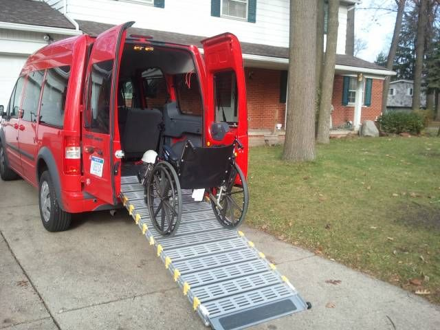 Bi Fold Ramp Installed In Ford Transit Connect For Convenient