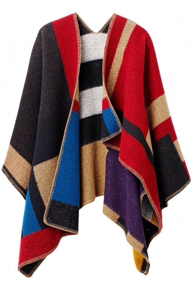Shop fall's coziest and chicest knit sweaters:   this over loved poncho cracks me up.