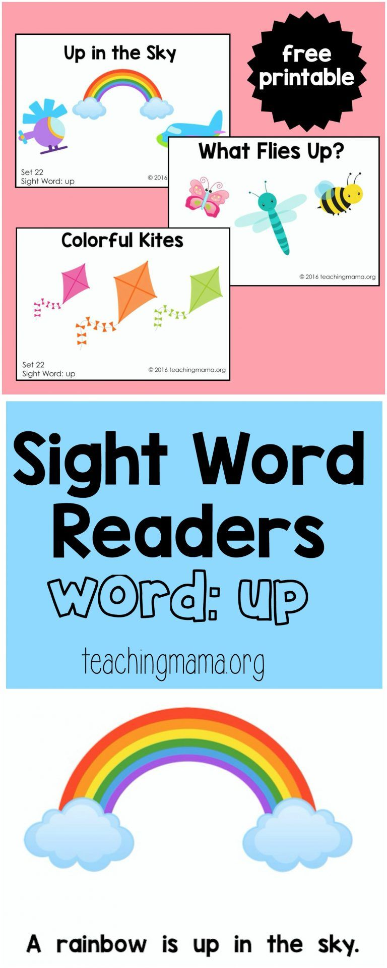 Sight Word Reader for the Word \