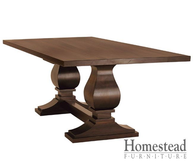 Madison Double Pedestal Table By Homestead Furniture Made In Amish Country