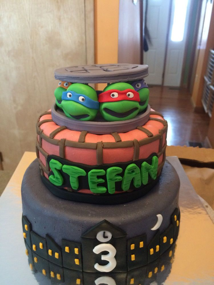Custom Edible Fondant Teenage Mutant Ninja Turtles Tmnt Cake Topper Cupcake Teenagemutantninjaturtles Tmnt Cake Cake Cake Toppers