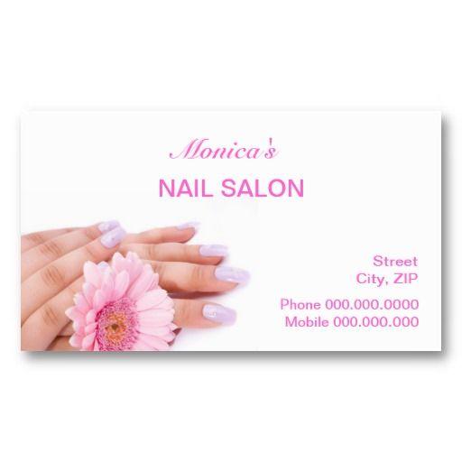 Nail Salon Business Card Nail Salon Business Cards Salon Gift Card Salon Business Cards