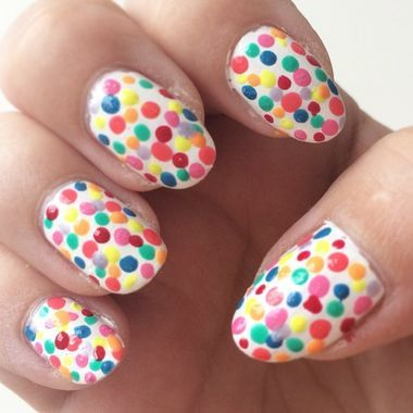 Polka dots nails are so cute for spring! This would also make great Easter nail art. Check out the rest of our favorite colorful nail designs!