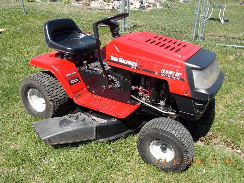 Vintage Mtd Lawn Tractors : Mtd riding lawn mower h p quot shift on go cut tractor