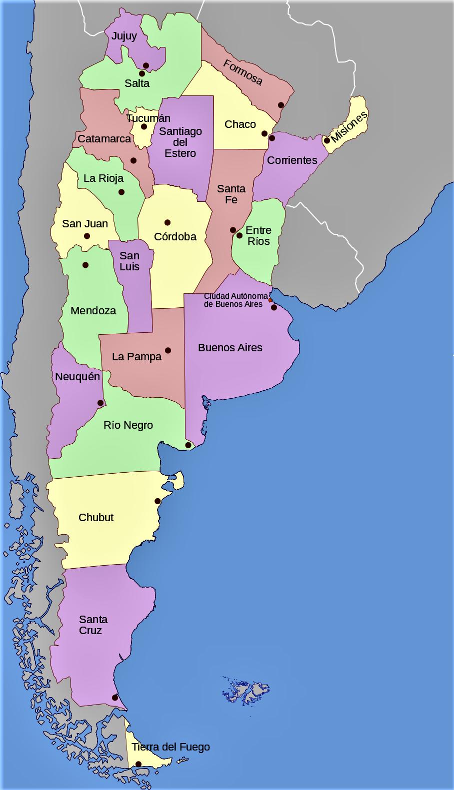 Mapa Argentina Politico Con Nombres Mapa De Argentina Mapa Politico Mapa Fisico