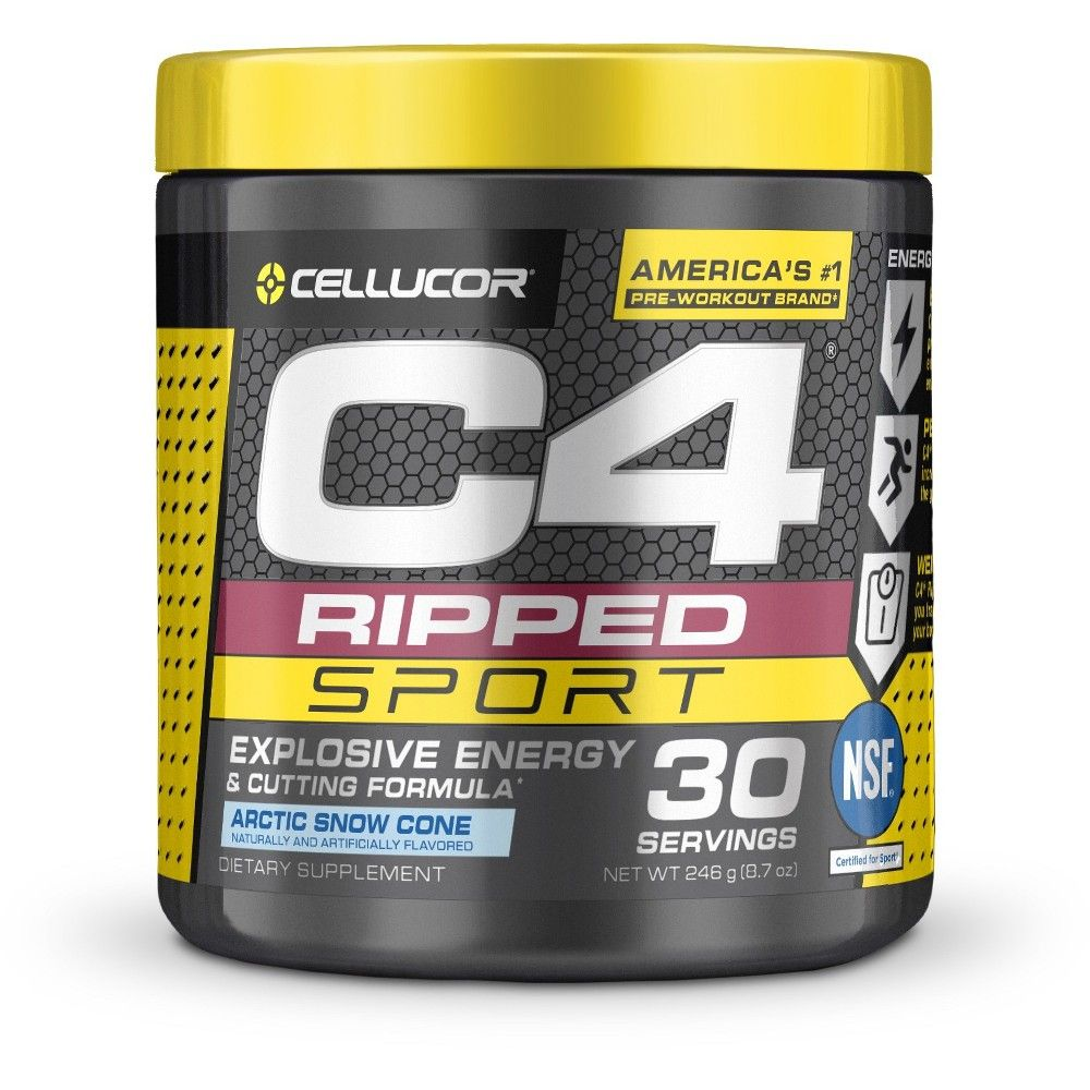 Cellucor C4 Ripped Pre-Workout Energy Powder - Arctic Snow Cone - 8.7oz
