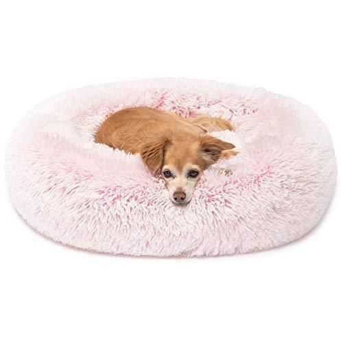 Round Donut Dog Bed In 2021 Dog Beds For Small Dogs Faux Fur Dog Beds Pink Dog Beds